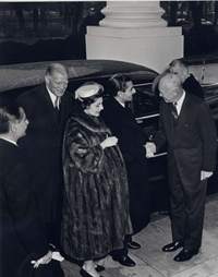 President Eisenhower greeting the Shah of Iran and Empress Soraya, 12/13/1954