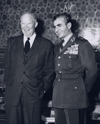 Photograph of President Eisenhower and the Shah of Iran