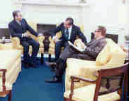 President Nixon & Secretary Henry Kissinger and the Shah of Iran in the Oval Office , 07/26/1973